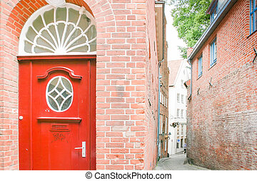 Red Portal in Lubeck House in old town