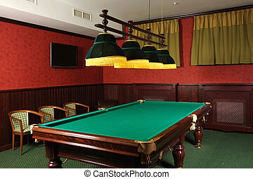 Billiards - Room for game in billiards