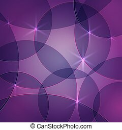 Vector abstract dark purple background with circles and sparks