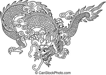 chinese Dragon - Illustration of Tradition chinese Dragon...