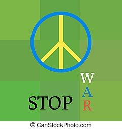 Stop War in Ukraine.  Peace poster.
