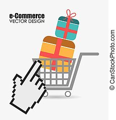 Ecommerce design, vector illustration