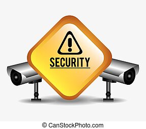 Security design, vector illustration. - Security design over...
