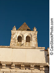 View of old portugese city -Estramuz - View of old marble...