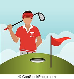 Golf design, vector illustration.