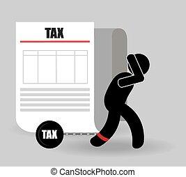 Taxes design, vector illustration - Taxes design over white...