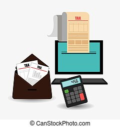 Taxes design, vector illustration - Taxes design over white...