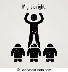 Might is Right - A motivational and inspirational poster...