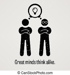 Great Minds Think Alike - A motivational and inspirational...