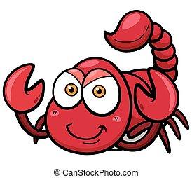 Scorpion - Vector illustration of cartoon scorpion