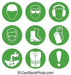 Construction Industry Icons - Green Construction and...