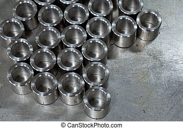 abstract round metal objects