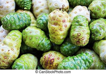 great morinda fruit. - exotic fruit great morinda, Indian...