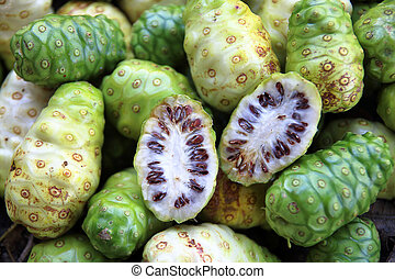 great morinda fruit. - exotic fruit great morinda, Indian...
