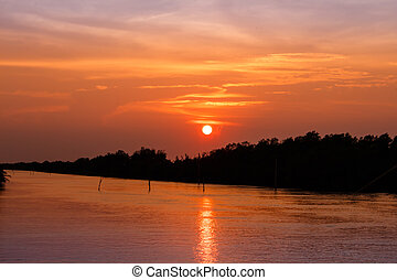 Sun Rise On the river