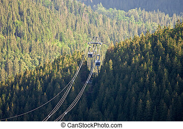 mountain cable car in the Tatra mountains in Poland