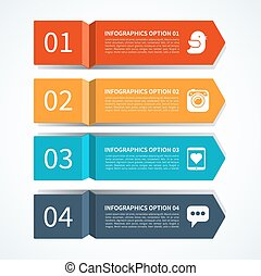 Modern arrow design template for infographics. Origami...