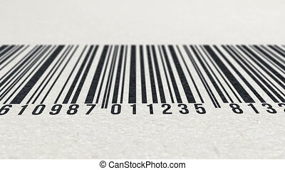 4k - Animation of barcode on paper texture