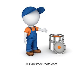 Worker in a uniform. - 3d rendered worker in a uniform...