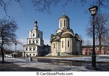 Spaso-Andronikov Monastery, Moscow - MOSCOW, RUSSIA - March...