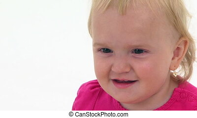 Portrait Of A Cute Toddler - Portrait of a cute little baby...