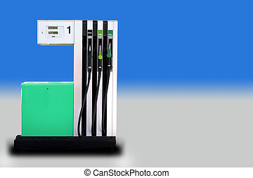Modern fuel pump - Front view of a modern fuel pump isolated...