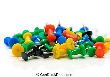 Isolated push pins