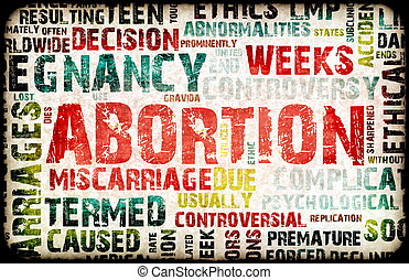 Abortion of Pregnancy Danger Background as a Art