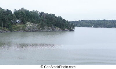 View sea islands Finland - With swimming by ferry view on...