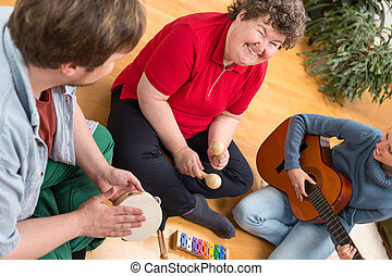 Music therapy makes a positive response
