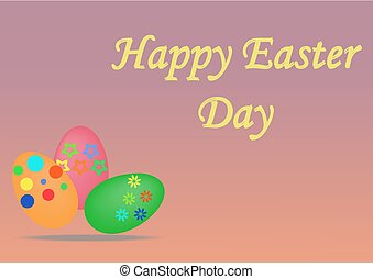 colorful easter eggs, illustrator - colorful greeting card...