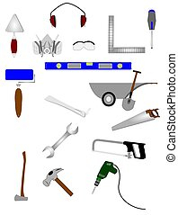 tools - variety of tools used in construction