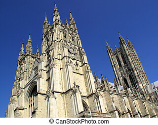 Canterbury Cathedral in Canterbury, Kent, England, UK was...