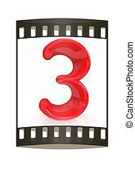 "Number ""3""- three. The film strip"