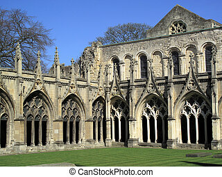 Cloisters Canterbury Cathedral - Cloister arches of...