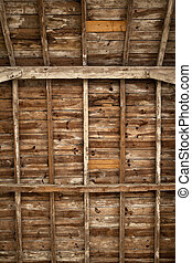 Wood frame - Old wood frame and beams on a farm