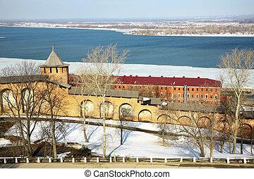 Spring Kremlin Nizhny Novgorod Russia