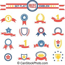 Illustration of a series design grunge vintage ribbons, banners, labels, shields  and seal stamper