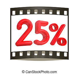 "3d red ""25"" - twenty five percent on a white background. The..."