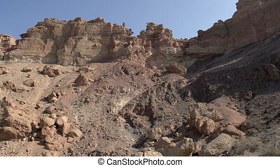 Canyon Walls - Panorama of the canyon with bizarre...