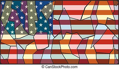 U.S.A. Flag Stained Glass