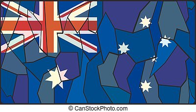 Australia Flag Stained Glass Window