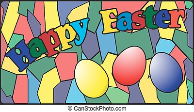 Easter Stained Glass Window - An Easter stained glass window...