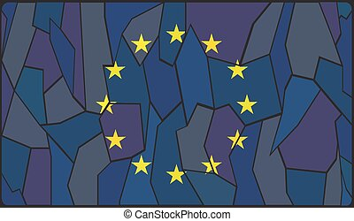 EU Stained Glass Window - An EU flag style stained glass...