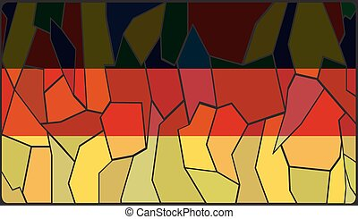 German Stained Glass Window - A German Flag on a stained...