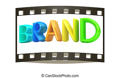 """""""brand"""" 3d colorful text"""