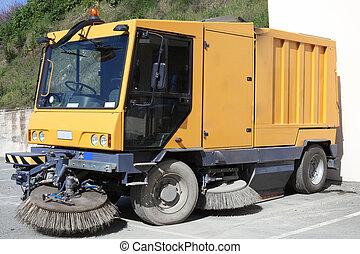 Street Sweeper Truck - Modern street sweeper cleaner truc