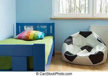 Soccer ball chair - Chair like a soccer ball in cute stylish...