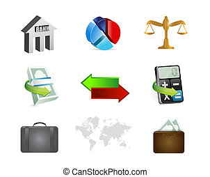 finance banking concept icon set