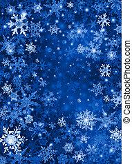 bleu, neige, fond